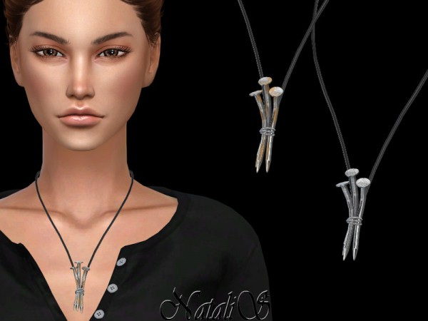 The Sims Resource: Three nails pendant by NataliS