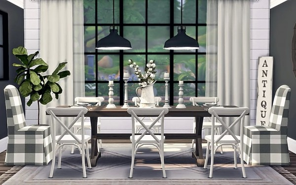 Blooming Rosy: Vintage Farmhouse Dining