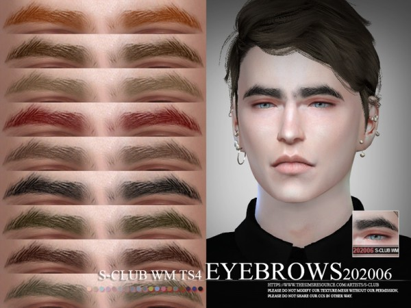The Sims Resource: Eyebrows 202006 by S Club