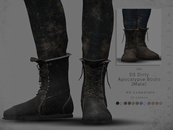 The Sims Resource: Dirty Apocalypse Boots (Male) by DarkNighTt