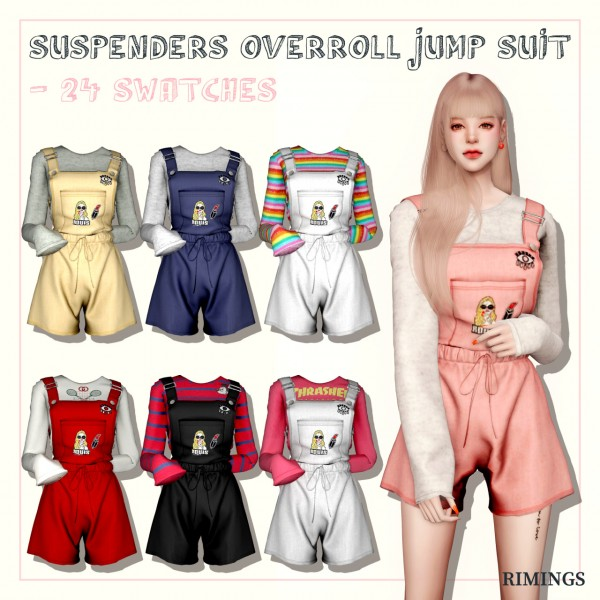 Rimings: Suspender Overroll Jumpsuit