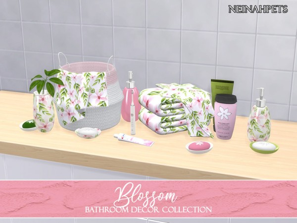 The Sims Resource: Blossom Bathroom Decor by neinahpets