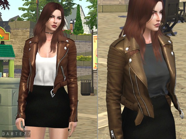 The Sims Resource: Biker Jacket   Acc by Darte77