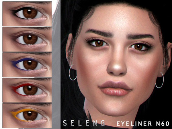 The Sims Resource: Eyeliner N60 by Seleng