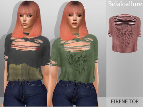 The Sims Resource: Belaloallure Eirene top by belal1997