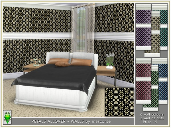 The Sims Resource: Petals All over   Walls by marcorse