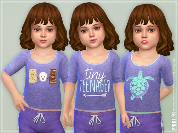 The Sims Resource: Comfy Shirt for Toddler Girls 02 by lillka