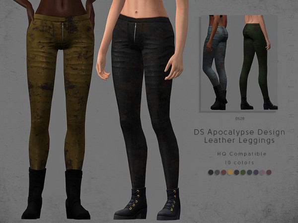 The Sims Resource: Apocalypse Design Leather Leggings by DarkNighTt