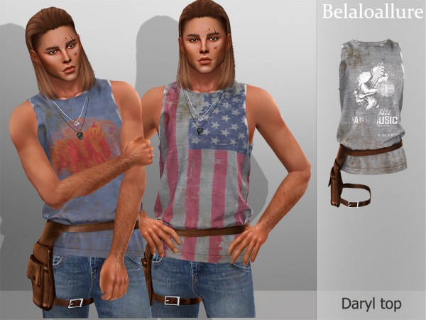 The Sims Resource: Belaloallure Daryl top by belal1997