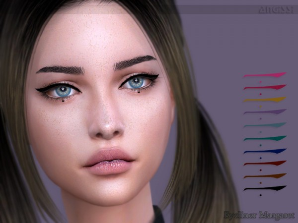 The Sims Resource: Eyeliner Margaret by ANGISSI