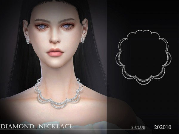 The Sims Resource: LL Necklace 202010 by S Club