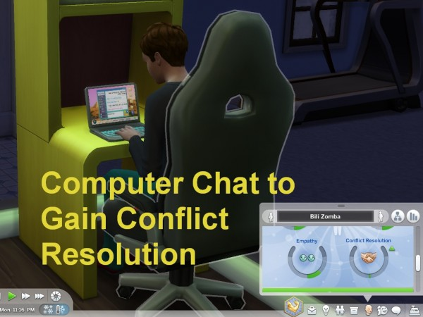 Mod The Sims: Computer Chat to Gain Conflict Resolution by wertyuio86