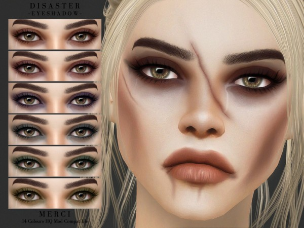 The Sims Resource: Disaster Eyeshadow by Merci