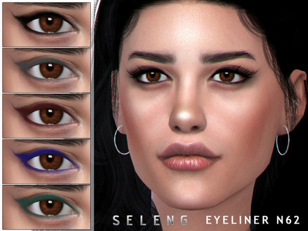 The Sims Resource: Eyeliner N62 by Seleng