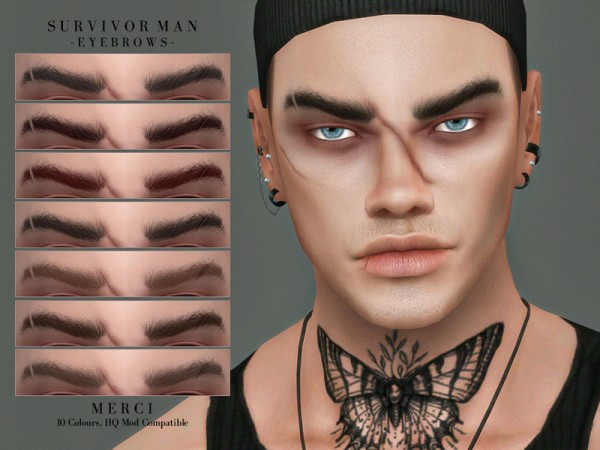 The Sims Resource: Survivor Man Eyebrows by Merci