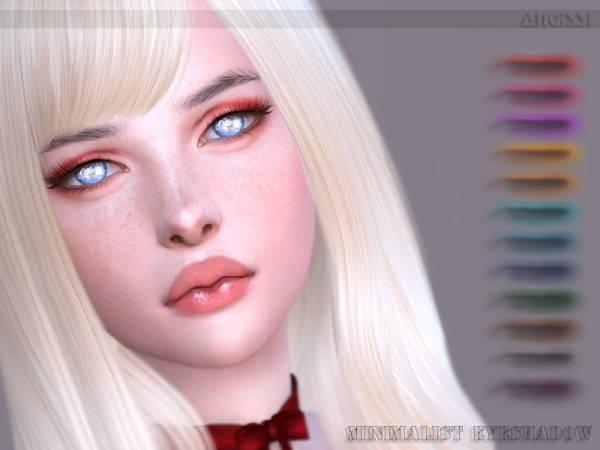 The Sims Resource: Minimalist Eyeshadow by ANGISSI
