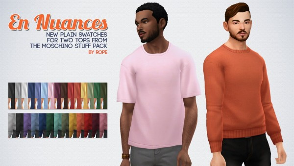 Simsontherope: New swatches for two tops