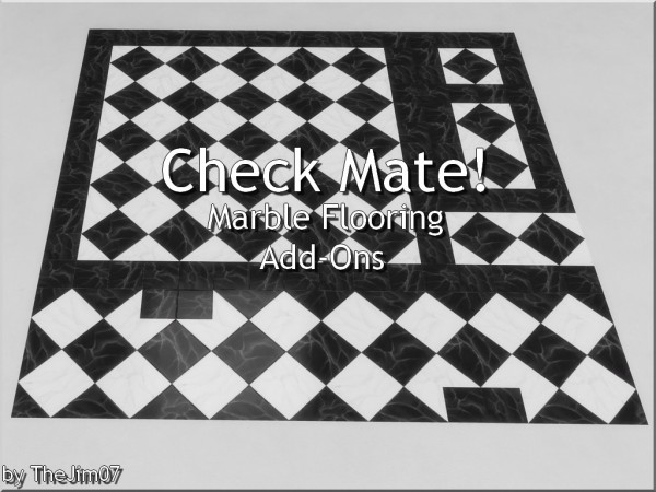Mod The Sims: Check Mate! Marble Flooring Add Ons by TheJim07