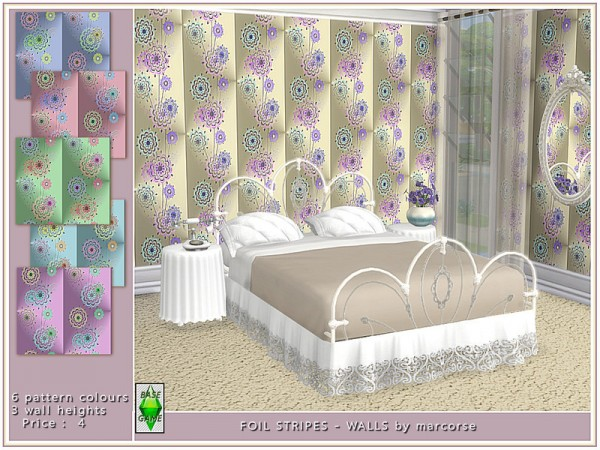 The Sims Resource: Back Foil Stripes   Walls by marcorse