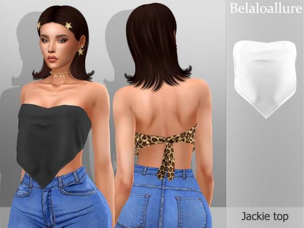 The Sims Resource: Belaloallure Jackie top by belal1997
