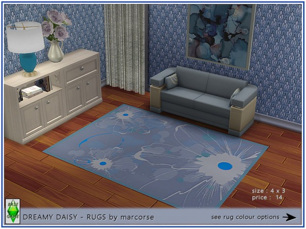 The Sims Resource: Dreamy Daisy   Rugs by marcorse