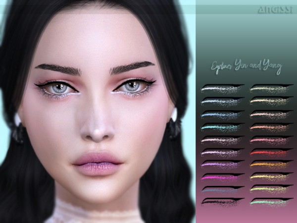 The Sims Resource: Eyeliner   Yin and Yang by ANGISSI