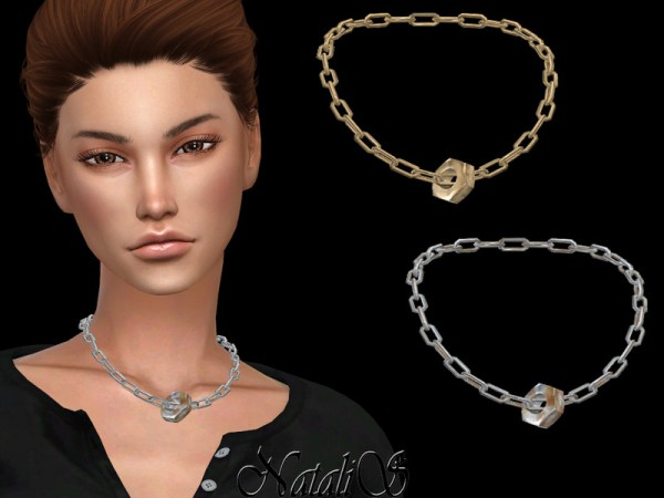 The Sims Resource: Hex nut chain necklace by NataliS
