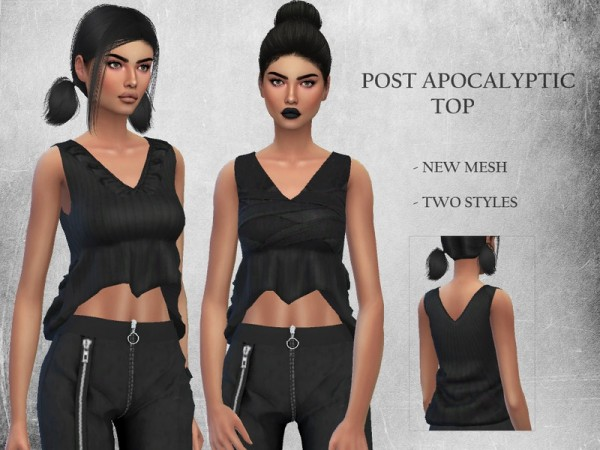 The Sims Resource: Post Apocalyptic Top by Puresim