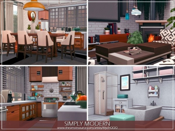 The Sims Resource: Simply Modern House by MychQQQ