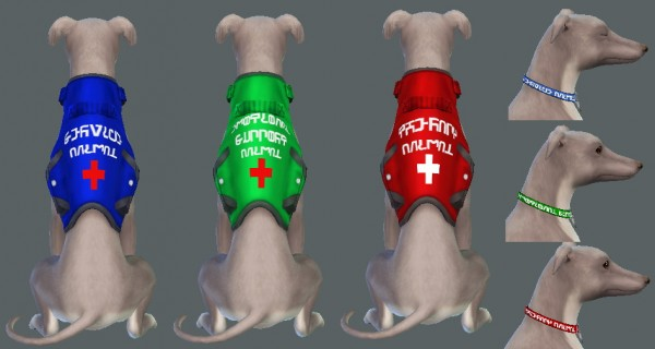 Mod The Sims: Service Animal Accessories by Oakstar519
