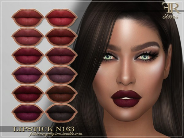 The Sims Resource: Lipstick N163 by FashionRoyaltySims