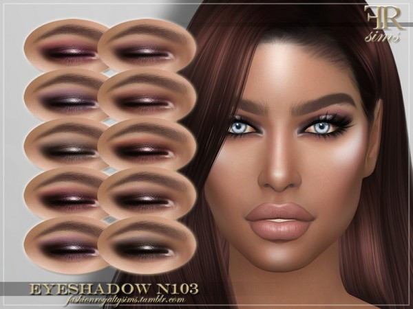 The Sims Resource: Eyeshadow N103 by FashionRoyaltySims