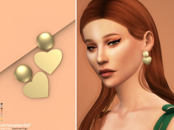The Sims Resource: Kiana Earrings by Christopher067