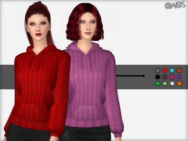 The Sims Resource: Knit Hoodie by OranosTR
