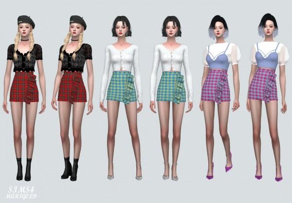 SIMS4 Marigold: ZZ Frill Plaid Mini Skirt