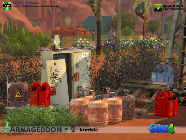 The Sims Resource: Armageddon Objects 2 by kardofe