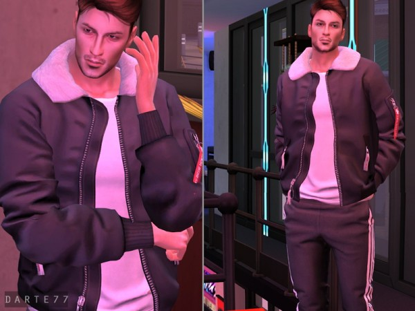 The Sims Resource: Bomber Jacket   Acc by Darte77