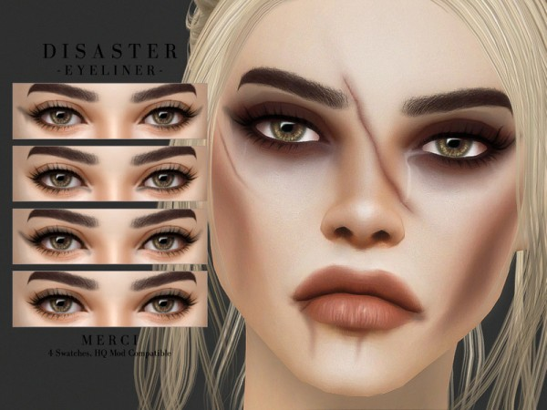 The Sims Resource: Disaster  Eyeliner by Merci