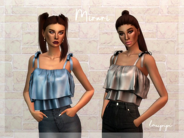 The Sims Resource: Mirari Top by Laupipi