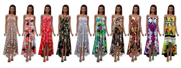Sims 4 Sue: Sentate`s Asymmetrical Frilled Dress