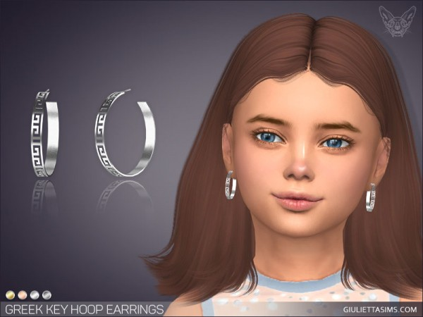Giulietta Sims: Greek Key Hoop Earrings For Kids
