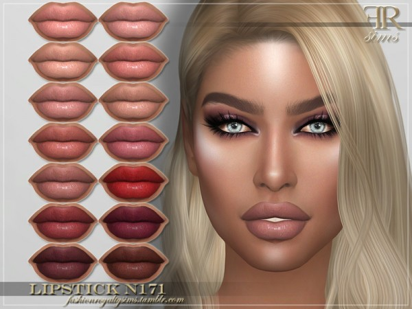 The Sims Resource: Lipstick N171 by FashionRoyaltySims