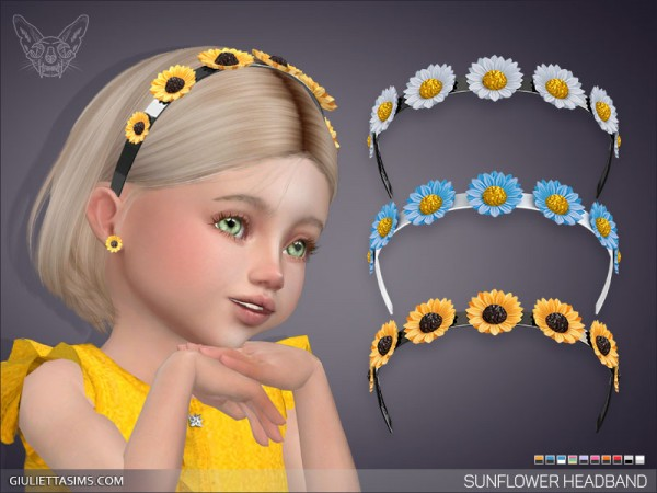 Giulietta Sims: Sunflower Headband For Toddlers
