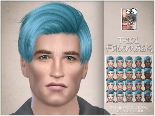 The Sims Resource: T 101 facemask by BAkalia