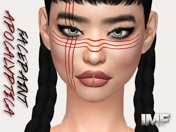 The Sims Resource: Apocalyptica Facepaint N.02 by IzzieMcFire