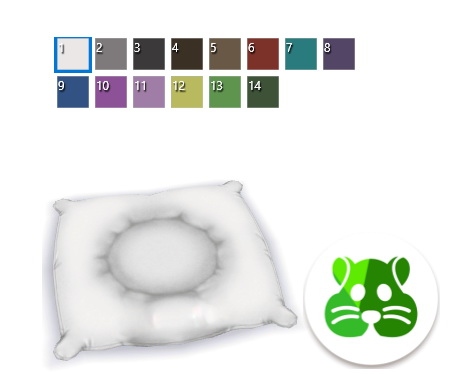 Mod The Sims: One Colored Animal Bedding by BlueHorse