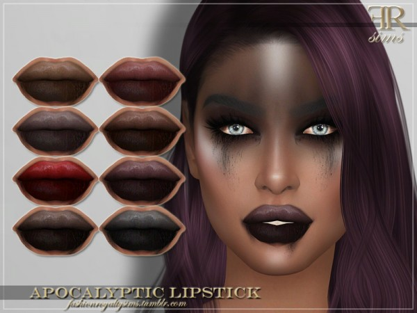 The Sims Resource: Apocalyptic Lipstick by FashionRoyaltySims