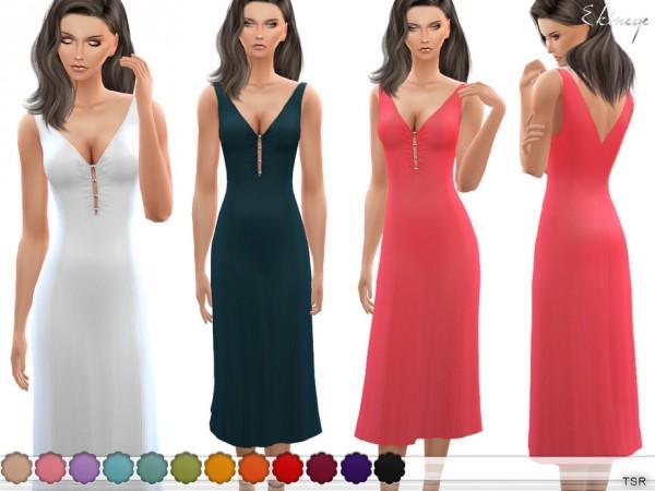 The Sims Resource: Bead Embellished Midi Dress by ekinege