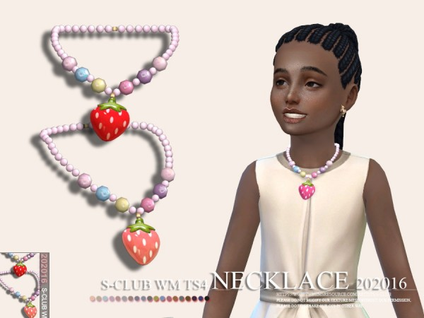The Sims Resource: Necklace 202016 by S Club
