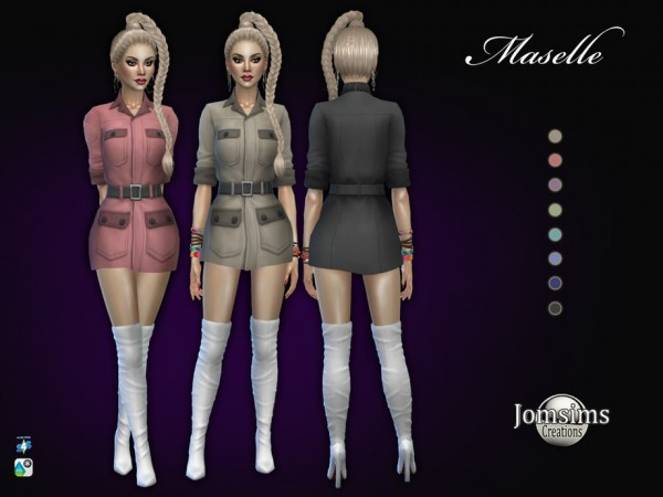 The Sims Resource: Maselle dress by jomsims